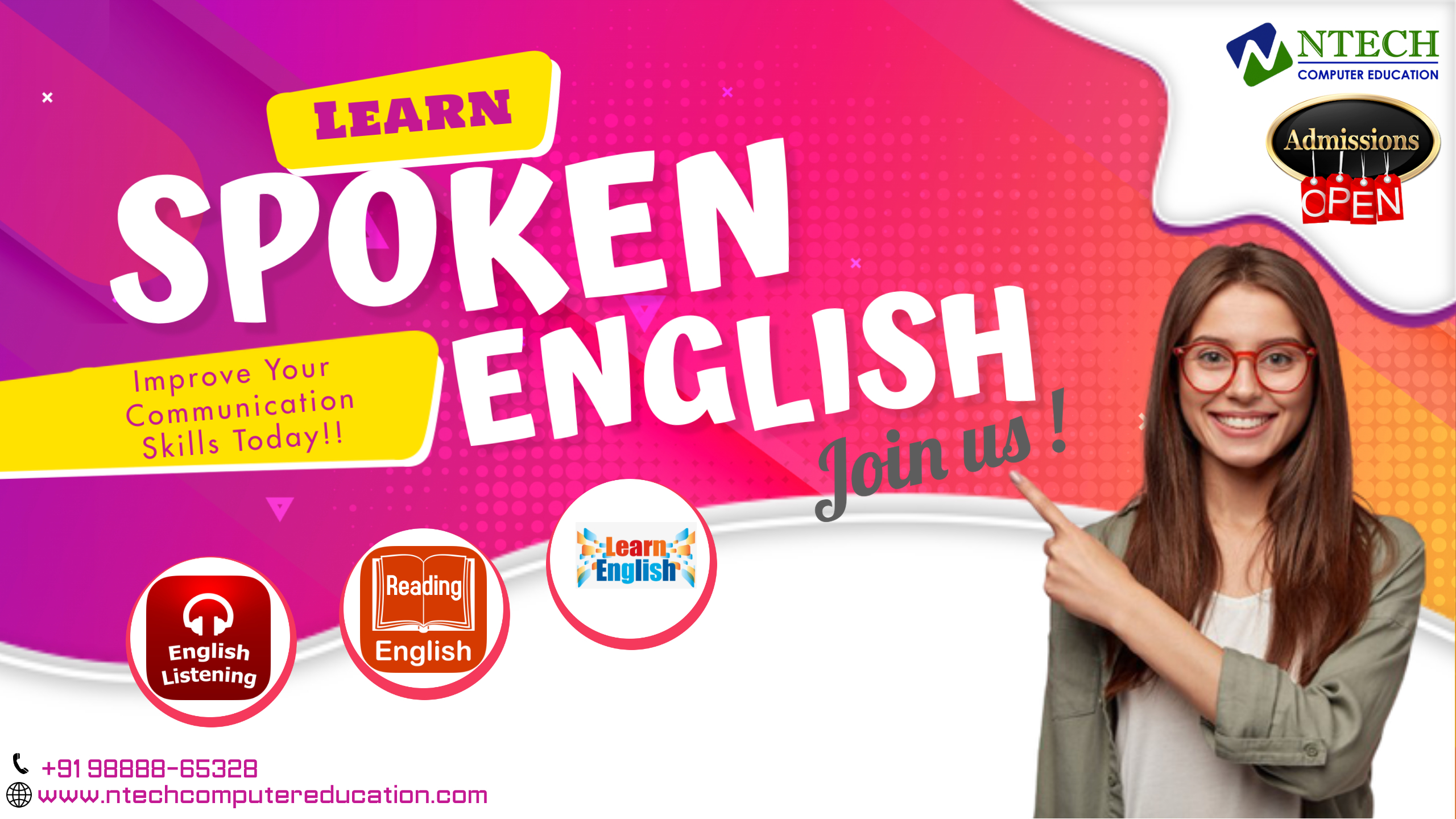 Ntech English speaking course in ludhiana